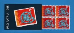 Svizzera ** 1995 - Carnet Pro Patria 1995.  MNH.   Vedi Descrizione.   ( FR ) - Blocchi