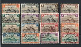 EGITTO) REGNO 1933 -38  - Serie Courante PA USED  16 Valori Dei 21 - Egypt
