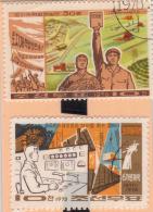 KOREA   -   2 SELLOS  DEL  AÑO 1976 - Corea (...-1945)