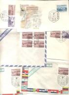 INONDATION FLOOD PRO DAMNIFICADOS POR LA INUNDACION DE 1958 SET 6 FDCs LOTE LOT CATASTROFE CATASTROPHE