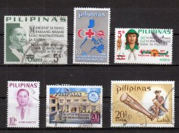 Filippine Philippines Philippinen Pilipinas 1968 - 1969 Incomplete Sets 6 Stamps - USED (see Photo) - Philippines