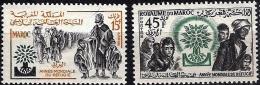 Maroc 1960 - Année Mondiale Du Réfugié - Neufs** MNH  - Scott N° 36-37 - Maroc (1956-...)
