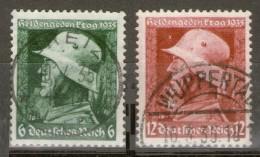 ALEMANIA REICH -  6 Pfg Und 12 Pfg. - Mi.569-70 Y - Yv.528-9 ALE-077 - Oblitérés