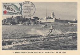 Carte  Maximum  1er  Jour   Championnat  Du  Monde  De  SKI   NAUTIQUE   1963