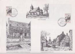 Alain Fournier Le Grand Meaulnes Encart 1er Jour Epineuil Le Fleuriel Et La Chapelle D'Angillon 4.10.86 N°2443 - FDC