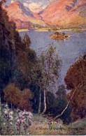 MISCELLANEOUS ART - A GLIMPSE OF GRASMERE, EVENING SUN - A HEATON COOPER Art64 - Cumberland/ Westmorland
