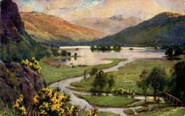MISCELLANEOUS ART - SUNSET, RYDAL WATER - A HEATON COOPER Art65 - Cumberland/ Westmorland