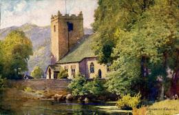 MISCELLANEOUS ART - GRASMERE CHURCH - A HEATON COOPER Art66 - Cumberland/ Westmorland