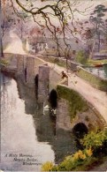MISCELLANEOUS ART - A MISTY MORNING, NEWBY BRIDGE - A HEATON COOPER Art67 - Cumberland/ Westmorland