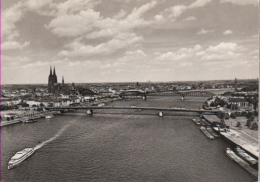Köln - S/w Panoramablick Mit Dom Deutzer Brücke - Koeln