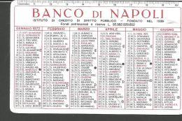CAL19/20---  CALENDARIETTO,  1972,  BANCO DI NAPOLI, - Calendari