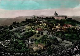 TORINO    SUPERGA   E  VILLAGGIO  ACQUARELLATA     (VIAGGIATA) - Churches