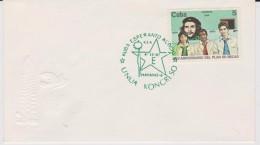 Cuba - Special Cancellation 1st Esperanto Congress  With Mi 3071 Scholarship Program - Che Guevara - Students - 1987 - Brieven En Documenten