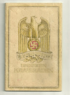 ALLEMAGNE LIVRE 1943 UNSEREN KAMERADEN AIGLE CROIX MEDAILLE MILITAIRE MILITARIA GUERRE MUSIQUE CHANT - Libros