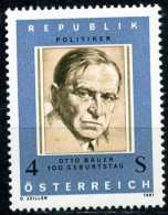 Österreich - Michel 1678 - ** Postfrisch (B) - Otto Bauer - 1945-.... 2. Republik