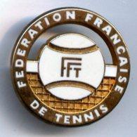@+ Broche FFT Tennis Blanche - Signée Ballard - Tennis