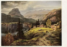 Künstler AK Joh. Chr. Claussen Dahl - Norwegische Berglandschaft- Karte N. Gel - Künstlerkarten
