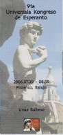 Esperanto 1st Bulletin Congress 2006 Florence - Unua Bulteno Universala Kongreso 2006 Florenco - Boeken, Tijdschriften, Stripverhalen