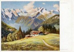KKünstler AK Josef Suessmayr - Bergbauernhof- Karte N. Gel - Künstlerkarten