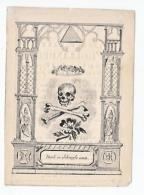 Doodsprentje Josephus Carolus D'HOLLANDER Brugge 1837 Drukkery Van C. De Moor (doodskop) - Andachtsbilder