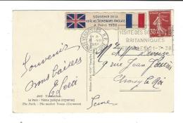OMEC Versailles Visite Des Souverains Britanniques 1938  Vignette Paris 1938 - Marcophilie (Lettres)