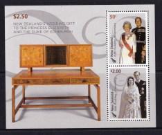 New Zealand 2007 Queen 60th Wedding Anniversary Minisheet MNH - - Ongebruikt