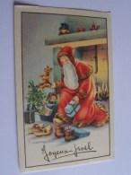 PERE NOEL GOUGEON CHEMINEE JOUETS OURSON POUPEE JOYEUX NOEL - Kerstmis