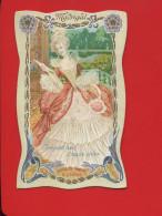 PERNOT CHROMO ART NOUVEAU OSSELET FEMME MADRIGAL EPOQUE LOUIS XIV - Chromos
