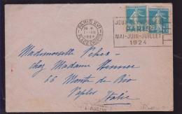 OMEC PARIS XVI PLACE CHOPIN - JEUX OLYMPIQUES / PARIS / MAI -JUIN - JUILLET 1924 PER NAPOLI - Sellados Mecánicos (Publicitario)