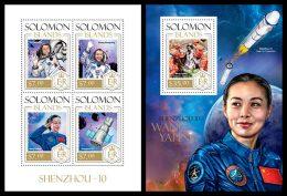 SOLOMON Isl. 2013 - Shenzhou-10, Space - YT 2000-3 + BF251; CV = 27 €