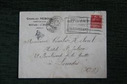 Enveloppe Timbrée Publicitaire - MONTAUD ST DREZERY , Charles REBOUL, Propriétaire - France