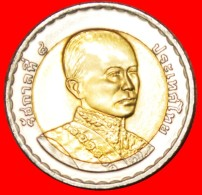 § MONGKUT: THAILAND ★ 10 BAHT 2547 (2004)! LOW START ★ NO RESERVE! Rama IX (1946-) - Thaïlande