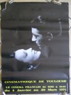 1971 Affichecinéma  Cinémathèque De Toulouse Jean Gabin Et Arletty éditeur Imp Languedoc Publicité Toulouse 60x44cm Etat - Affiches