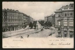 Austria 1902 Kolowrat Ring Wien Vienna Vintage Picture Post Card To France # PC1 - Vienna