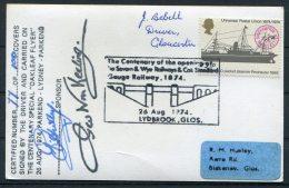 1974 GB Lydbrook, Glos,Oakleaf Flyer Train Signed Postcard, Severn & Wye Railways - 1952-.... (Elizabeth II)