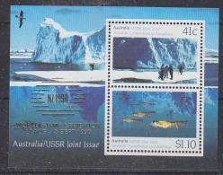 "Australia 1990 Antarctica / Joint Issue With USSR  Overprinted ""NZ 1990 Exhibition"" M/s ** Mnh (29042) - Australian Antarctic Territory (AAT)"