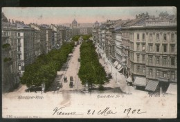 Austria 1902 Ring Road Grand Hotel Wien Vienna Vintage Picture Post Card To France # PC22 - Other