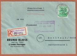 R. Wallendorf Thürringer W  Entête: Bruno Klöss Dentist - Zone Soviétique
