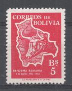 Bolivia 1954. Scott #384 (MNH) Map Of Bolivia And Cow's Head - Bolivie