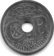 *denmark 25 Ore 1941  Km 823.2a  Vf+ - Denmark