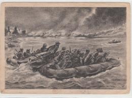 III. Reich, Propaganda Karte, Pioniere Kämpfen In Schlauchbooten... - Weltkrieg 1939-45