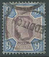 1887 GRAN BRETAGNA USATO GIUBILEO REGINA VITTORIA 9 P - U2-2 - 1840-1901 (Viktoria)