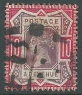 1887 GRAN BRETAGNA USATO GIUBILEO REGINA VITTORIA 10 P - U2 - 1840-1901 (Viktoria)