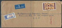 Nigeria   1972   Registered Cover  With 5sh Sc#195 Giraffes Affixed - Nigeria (1961-...)