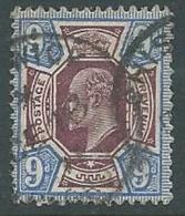 1902 GRAN BRETAGNA USATO EFFIGIE EDOARDO VII 9 P - U3-2 - 1902-1951 (Re)