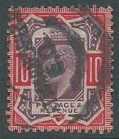 1902 GRAN BRETAGNA USATO EFFIGIE EDOARDO VII 10 P - U3-3 - 1902-1951 (Re)