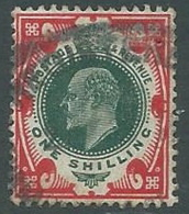 1902 GRAN BRETAGNA USATO EFFIGIE EDOARDO VII 1 S - U3-4 - 1902-1951 (Re)