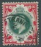 1902 GRAN BRETAGNA USATO EFFIGIE EDOARDO VII 1 S - U3-5 - 1902-1951 (Re)