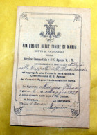 ITALIA 1923 - ANTICO SANTINO AFFILIAZIONE ALLA PIA UNIONE  FIGLIE DI MARIA - Images Religieuses