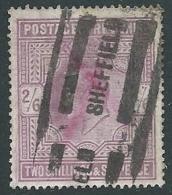 1902 GRAN BRETAGNA USATO EFFIGIE EDOARDO VII 2/6 - U2-6 - 1902-1951 (Re)